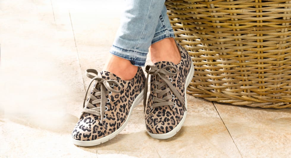 Shoes with animal print